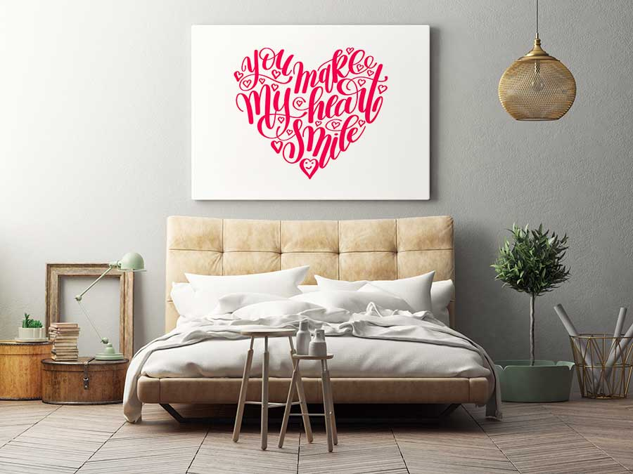 Red Heart Typography Art