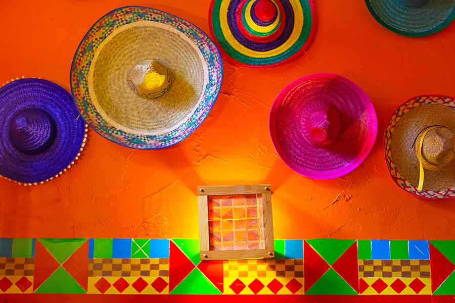 Sombreros on Wall